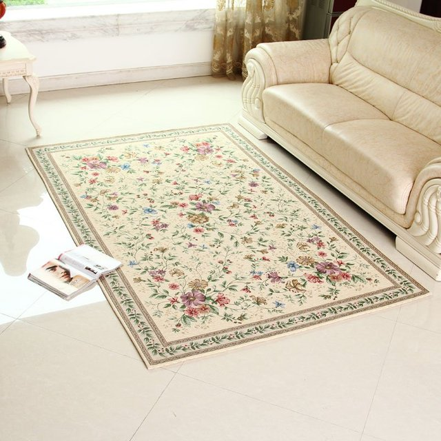 Lovely Classic Carpet European Country Style Area Rug Chic Floral Living Room And  Bedroom Floor Mat Free