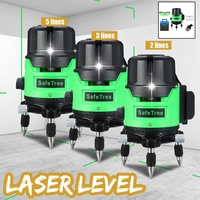 2/3/5 Line Green Laser Level Tripod Self Leveling 360 Horizontal Vertical Outdoor Automatic Self Leveling Laser Measure Tool