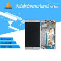 For ZTE V5 Pro N939St Axisinternational LCD Screen Display Touch Panel Digitizer With Frame White Gold