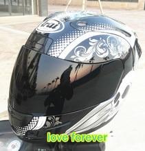 snake flower Motorcycle helmet full face arai run motorcycle helmets skull head remove lining keep warm