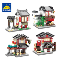 Chinese Culture Mini Street View Building Blocks Set 2 In 1 Architecture Street Model Educational Toy