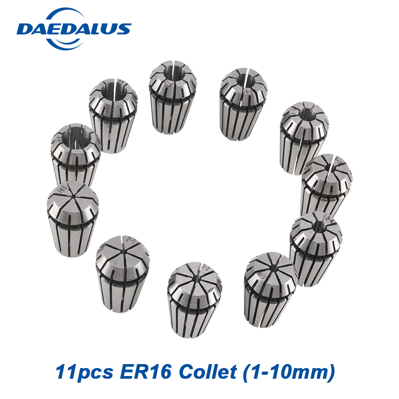 1 Set ER16 Collet 11Pcs For Milling Lathe cnc Spindle Motor Machine cnc collet chuck for milling machine tools1 Set ER16 Collet 11Pcs For Milling Lathe cnc Spindle Motor Machine cnc collet chuck for milling machine tools