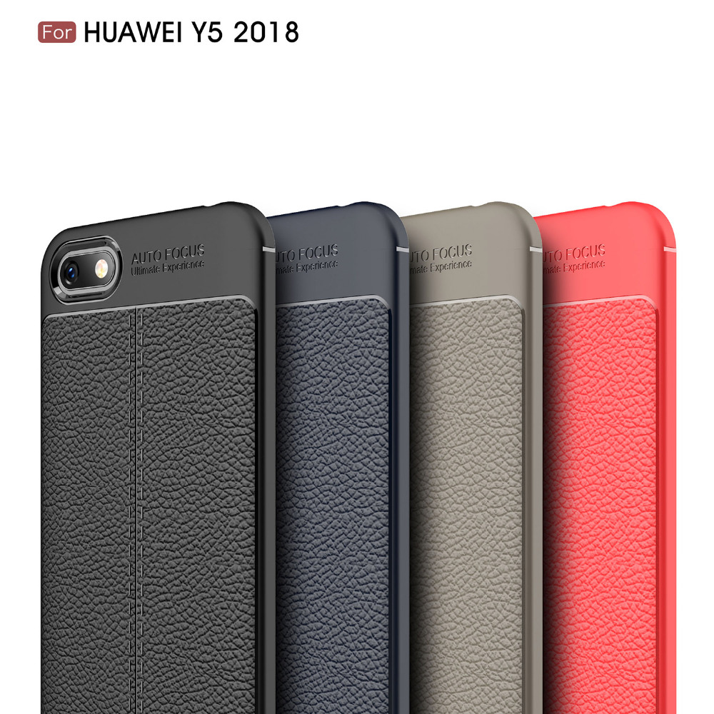 Huawei Y5 2018 Case Cover Y5 Prime 2018 Case for Huawei honor 7 Play Carbon  Fiber Silicon Soft Luxury Coque Etui Funda Accessory