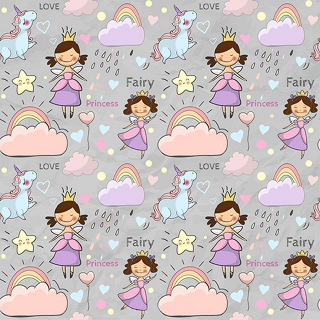 Cloud Rainbow Unicorn Fairy Princess Gold Crown Theme