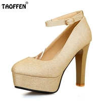 Women Thin High Heel Shoes Round Toe Platform Brand Female Fashion Heeled Sexy Pumps Heels Shoes