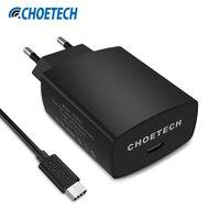 CHOETECH USB Ładowarka 5 V/3A Szybka Ładowarka Typu C Podróż Ładowarka Ścienna Adapter [z Kabel USB C] dla Samsung Mi5 S8 Plus dla Xiaomi
