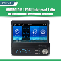 Universal 1din Car DVD Player Radio Stereo Quad Core Android 5 1 GPS Navigation Audio Bluetooth