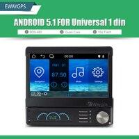 Universal 1din Car DVD Player Radio stereo Quad core android 5.1 GPS navigation Audio bluetooth wifi car-styling EW910PQH