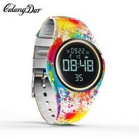 Calangdar Colorful Smart Watch Motion Detection Digital Smart Sports Fitness Women Fashion Waterproof Pedometer Creative Watches