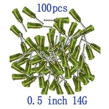 100 шт шприц игла 14Ga тупым наконечником дозирующая игла с Луер-замком 14 Калибр x 0,5 дюйма Длина для промышленного смешивания много жидкости