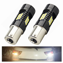 2X P21W светодио дный 1156 BA15S Авто светодио дный луковицы огни автомобиля 1200LM сигнала поворота Обратный Стоп R5W 3030 светодио дный s 12 В-24 В автомобилей лампы
