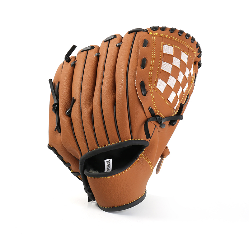 Baseball Glove PVC Leather Thick Size 10.5/11.5/12.5 Left Hand Black Brown Pink for Outdoor Sports or Baseball Practice macgregor bbmesh 12 5 inch baseball utility glove page 8