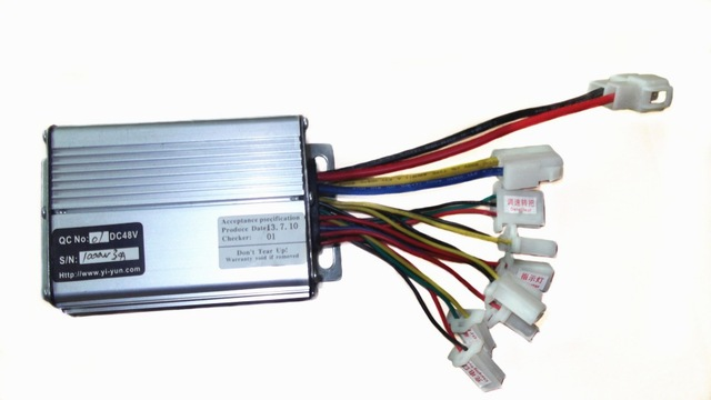 Free Shipping 1000W 48V DC brush motor controller E bike electric bicycle speed control