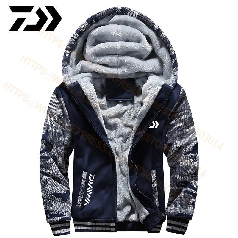 DAIWA Fishing Clothing Spring Autumn Outdoor Sport Camouflage Fishing Sweatshirts Men Plus Size DAWA Fishing Clothes Hoodies