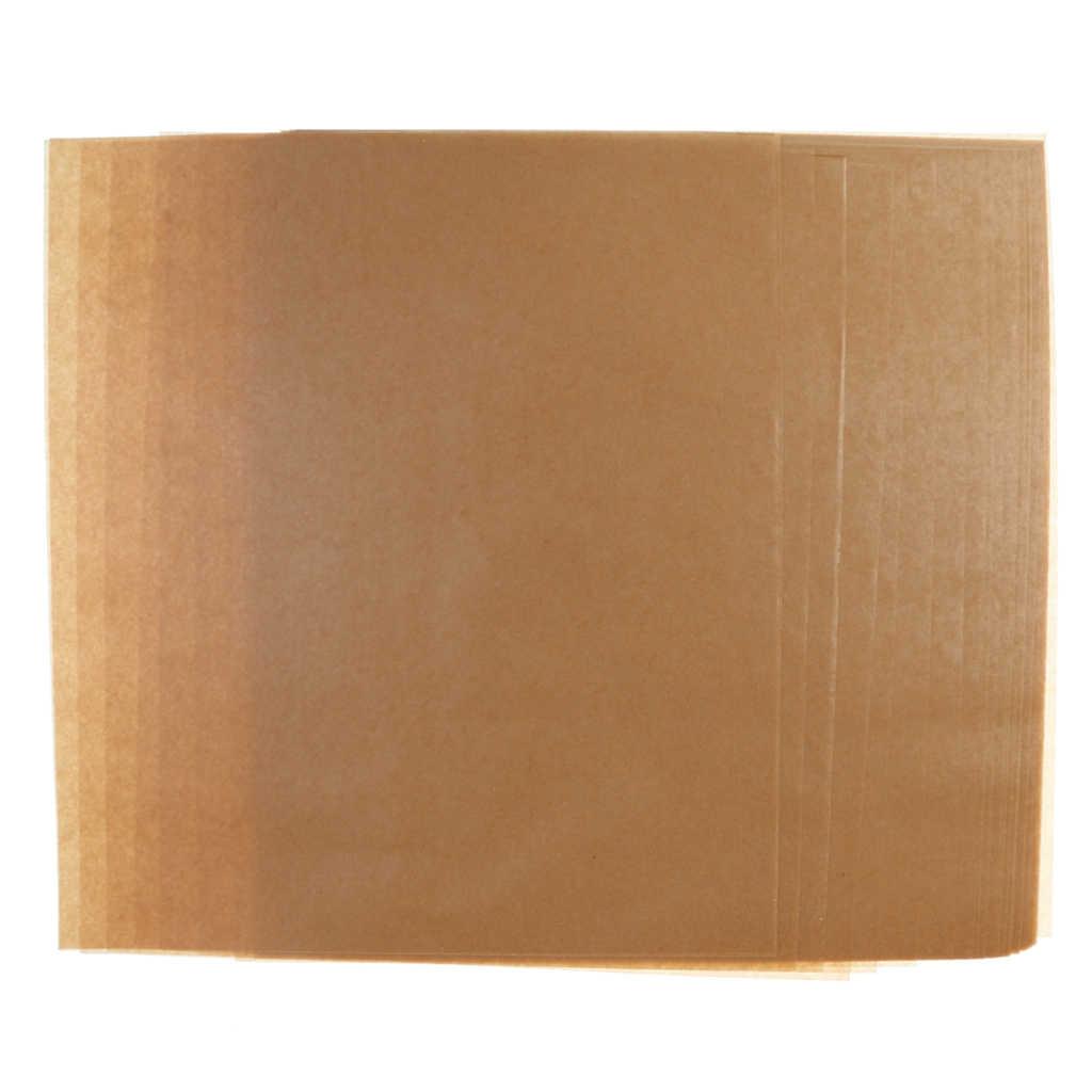 50 yaprak Kahverengi Su Geçirmez Balmumu Kağıt Şeker Sarma Yağ Ambalaj için Kağıt Hediyeler Ambalaj Malzemeleri