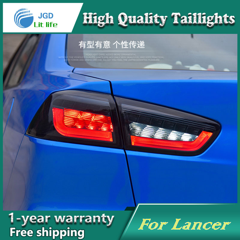 Car Styling Tail Lamp for Mitsubishi Lancer taillights Tail Lights LED Rear Lamp LED DRL+Brake+Park+Signal Stop Lamp car styling tail lamp for toyota prius taillights tail lights led rear lamp led drl brake park signal stop lamp