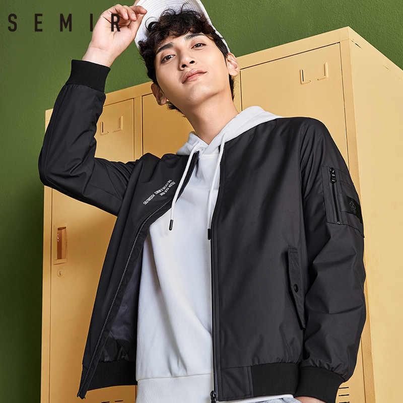 SEMIR куртки мужские тонкие пальто черная одежда 2019 мужская с длинным рукавом классическая одежда модная уличная одежда мужская