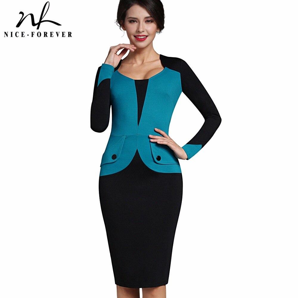 Aliexpresscom  Buy Nice Forever Winter Mature Elegant Casual Work Button Patchwork -7442