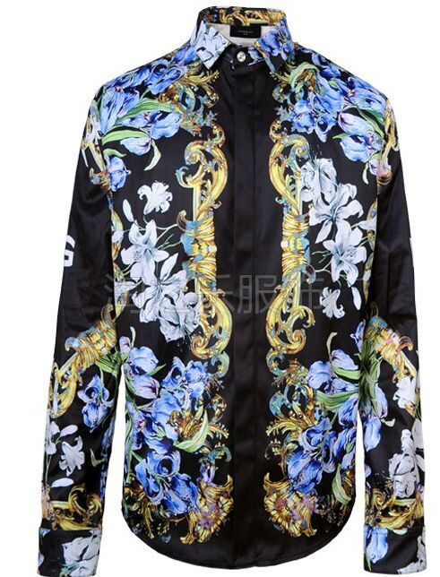 Luxury Stylish Sleeve Mens Dress Shirts New Flower Casual Men Shirt Spring Summer Mens Top Hawaiian Shirt TL002 ...