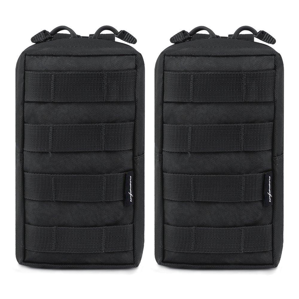 2pcs/lot Tactical Molle Pouches EDC Utility Pouch Gadget Gear Bag Military Vest Waist Pack Water-resistant Compact Bag