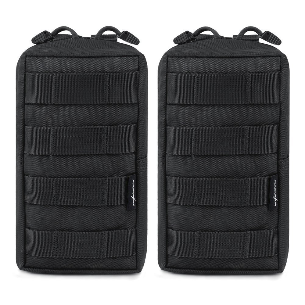 2pcs/lot Tactical Molle Pouches EDC Utility Pouch Gadget Gear Bag Military Vest Waist Pack Water-resistant Compact Bag airsoftpeak military molle waist bag tactical edc pouches outdoor belt utility pouch tool zipper waist pack hunting bags