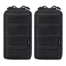 2pcs / lot טקטית molle שקיות EDC השירות פאוץ גאדג 'ט ציוד תיק צבאי וסט המותניים חבילת עמיד במים שקית קומפקטית