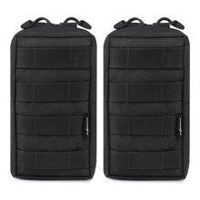 2 stks / partij Tactische Molle Pouches EDC Utility Pouch Gadget Gear Bag Militaire Vest Taille Pack waterbestendig Compact tas