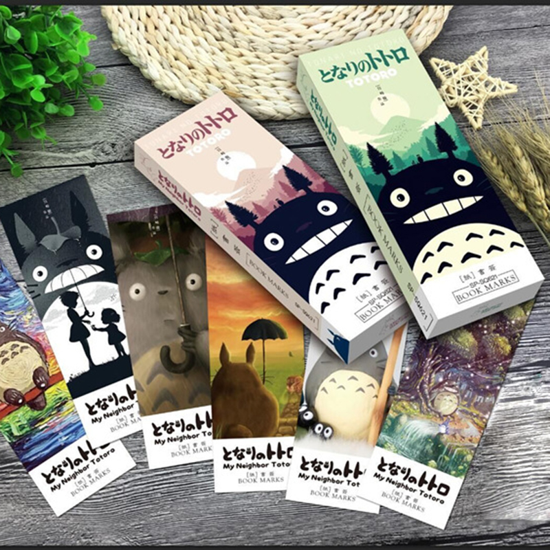 32 pcs/pack My neighbor Totoro book marks Cartoon paper bookmark Stationery office accessories School supplies free shipping 1 pcs boxed colorful feather glass ball bookmark paper animals bookmark book school office supplies stationery