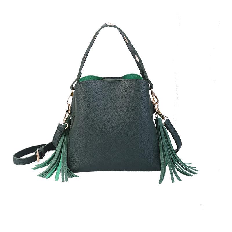 MARFUNY Brand Tassel Shoulder Bags Handbags Women Scrub Daily Bag For Girls Schoolbag Female Crossbody Bags New Bucket Sac 3