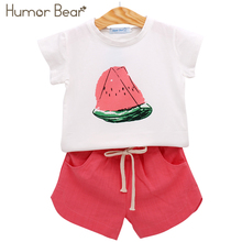 Humor Bear Summer Baby Girls Clothes Set Children'S Clothing Fruit T-Shirt + Shorts Suit Clothing Set Girls Suits