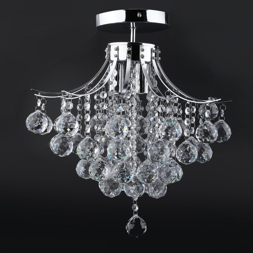 40cm Dimmable Crystal LED Pendant Light Home Living Room Bedroom Modern Chandelier LED Ceiling Lamp Light modern e27 led bulb lotus shape chandelier pendant ceiling lamp shade hanging light lampshade diy home living room bedroom decor