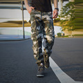 2017 Hot Sale Camouflage Pants Fashion Men's Trousers Loose Straight Casual Multi Pocket Overallspantalon Hip Hop Men P115