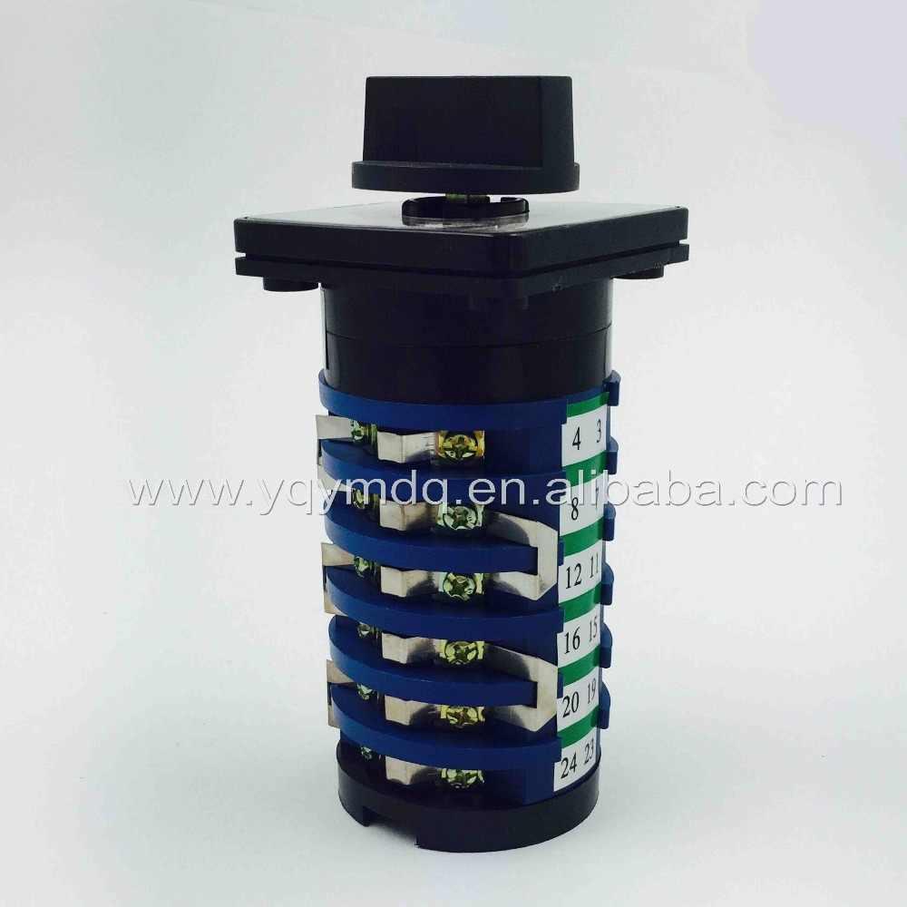 10 позиционный поворотный переключатель KDHC-32/6*10 сварочный аппарат выключатель сварочного аппарата 32A 6 фаз Универсальный Селекторный переключатель cam Переключатель