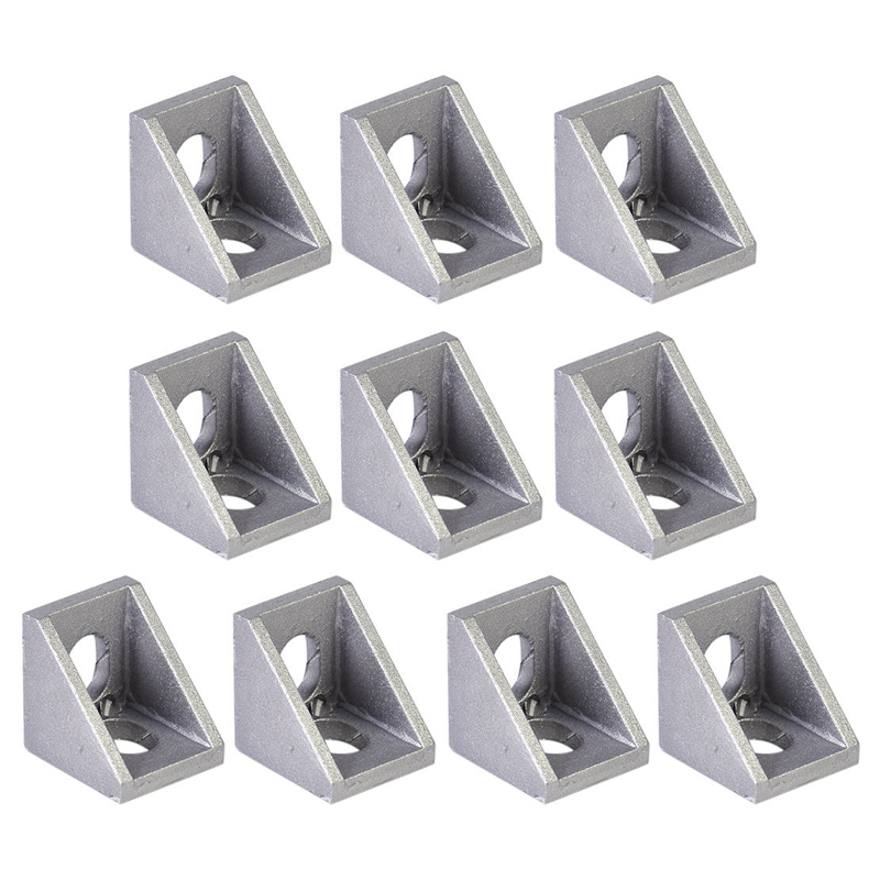 10Pcs Aluminum Brace Corner Joint Right Angle Bracket Joint L Shape 90 Degree Corner Angle Brackets Furniture Hardware Mayitr 10 pcs lot silver color metal corner brace right angle l shape bracket 20mm x 20mm home office furniture decoration accessories