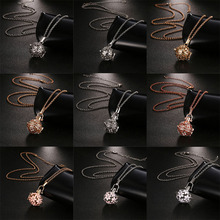New Mexico Chime Hollow Zircon Vintage Necklace Jewelry Music Ball Essential Oil Pregnancy Summer Romantic Accessories