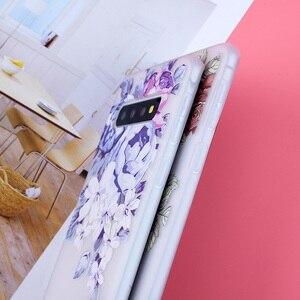 Image 5 - 3D الإغاثة لينة TPU اغلفة السامسونج غالاكسي S10 الزهور يغطي ل S7 حافة S8 زائد s9 Plus S10 لايت زائد ملاحظة 9 سيليكون كابا