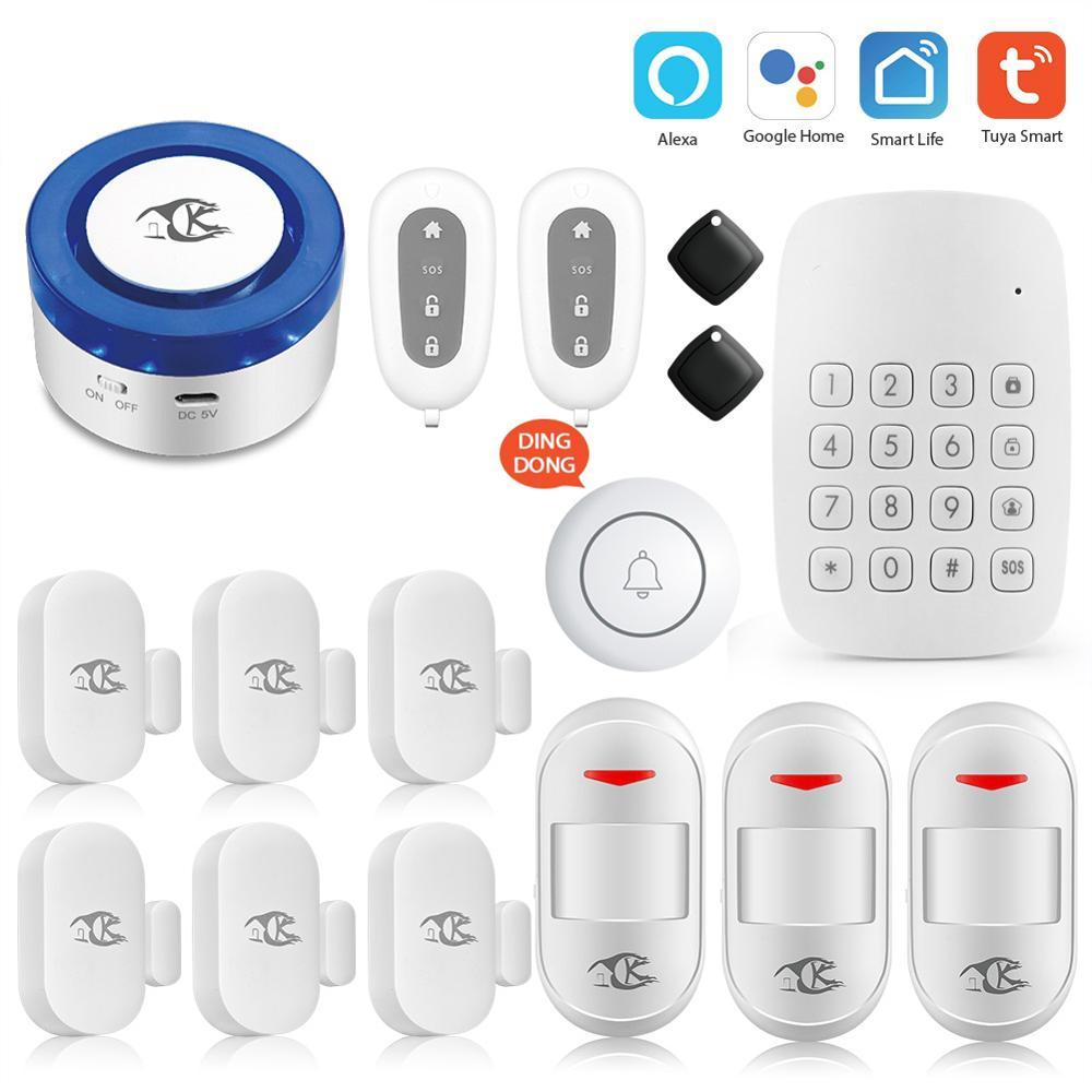 Hot B9c21 Tuya Alarm Security System Wireless Home