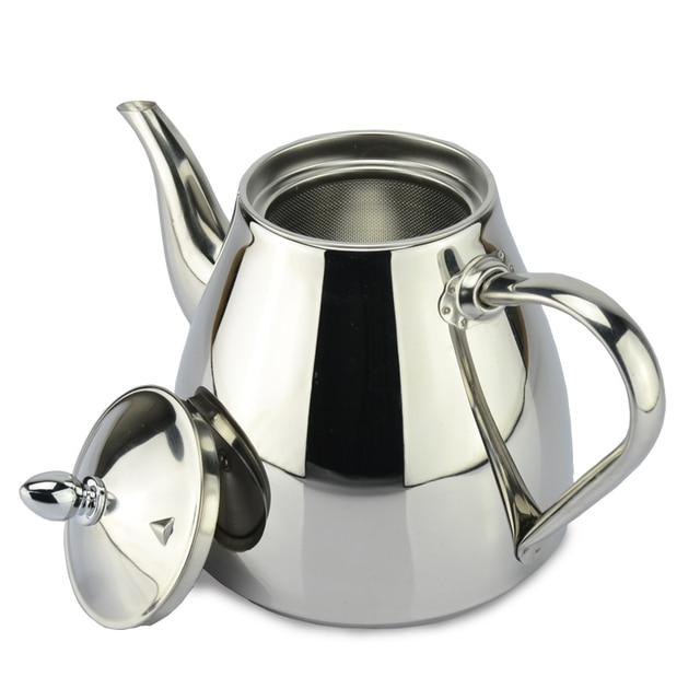 Новый стиль нержавеющей стали чайник и Кофеварка Капельного Чайник горшок чайник с фильтр из нержавеющей стали Чайник горячей воды для бариста