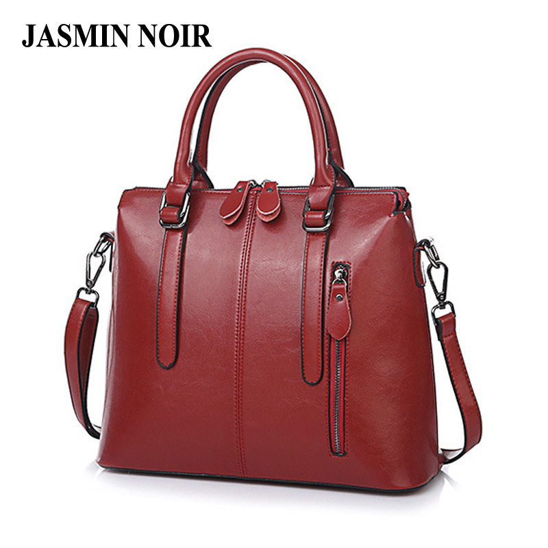 Fashion New Brand Genuine Leather Women Handbag Simple Female Designer Shoulder Crossbody Bag Large Tote Bag for Office Ladies female handbag bag fashion women genuine leather cowhide large shoulder bag crossbody ladies famous brand big bags high quality