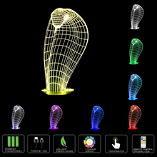 Cobra Snake Home Decor LED Lamp 3D Touch Control Night Light Home Decor Boy Gift