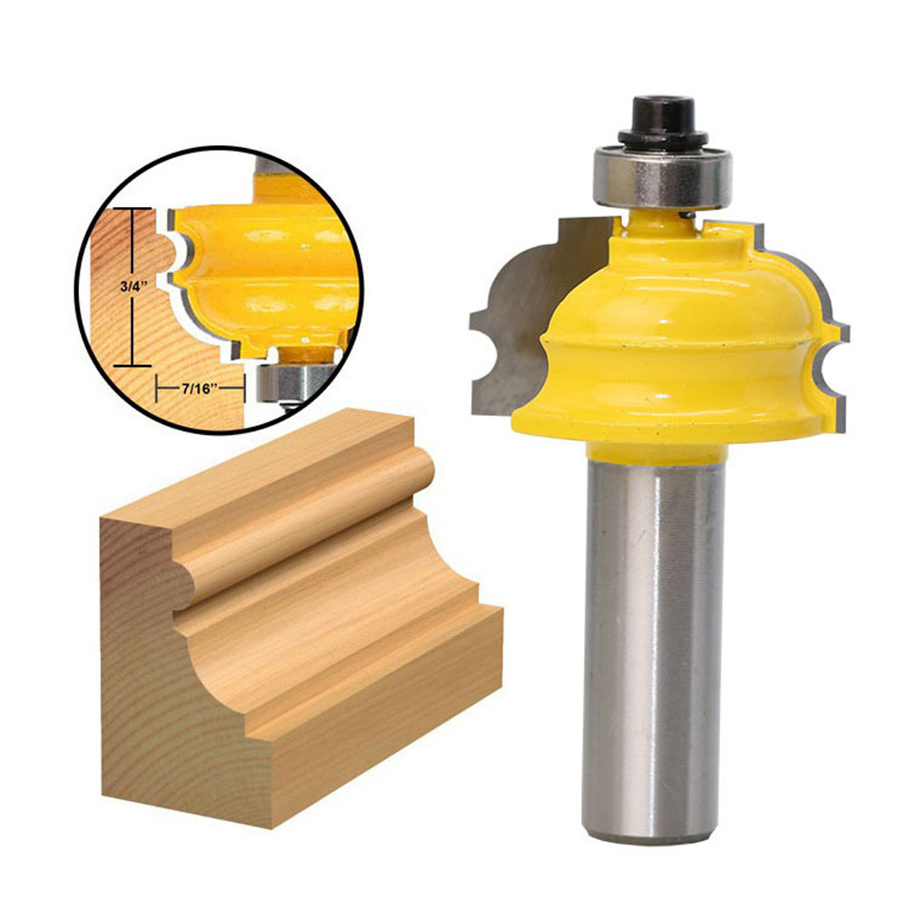 1Pc 1/2 Inch Shank Woodwork Cutter Router Bit Shaker Rail Stile Milling Cutter Drill For Wood Panel Cabinet Door 1 2 inch hss milling bits shank round nose cove core box router bit shaker cutter tools for woodworking