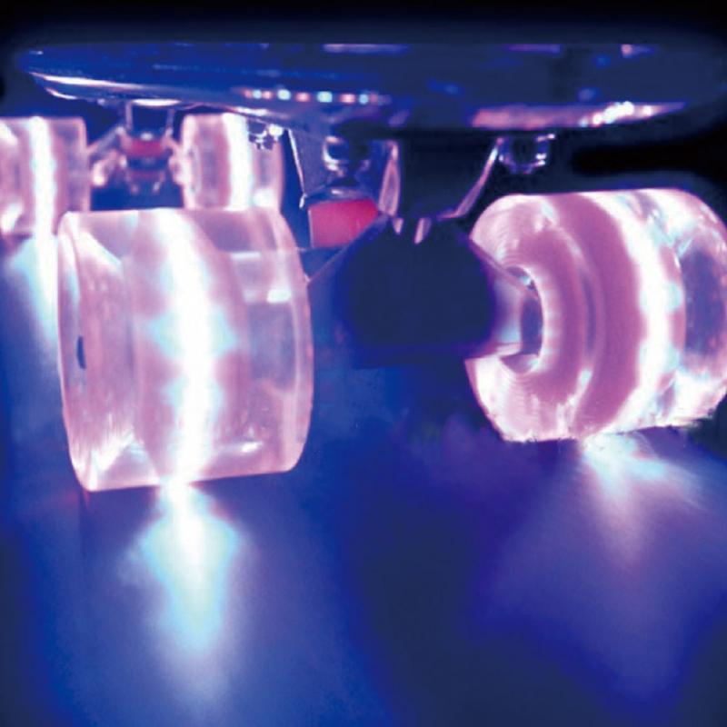 Prix pour 2 Pc/ensemble Pro 60X45mm PU Caoutchouc Matériel Led S'allume Roues pour 22 pouce Planche À Roulettes Longboard Cruiser Conseil de patinage