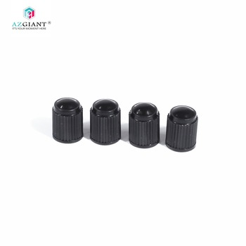 AZGIANT 4pcs/lot Plastic Car Motorcycle Truck Wheel Tire Valve Stem Cap Dust Cover Lid Black Tyre Air Size 9 x 13mm/0.35 x 0.51 image