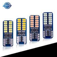 Luces LED de lectura para matrícula de coche, sin ERROR, T10, 194 W5W, 24 LED, 3014SMD, CANBUS, 12v, 10 Uds.