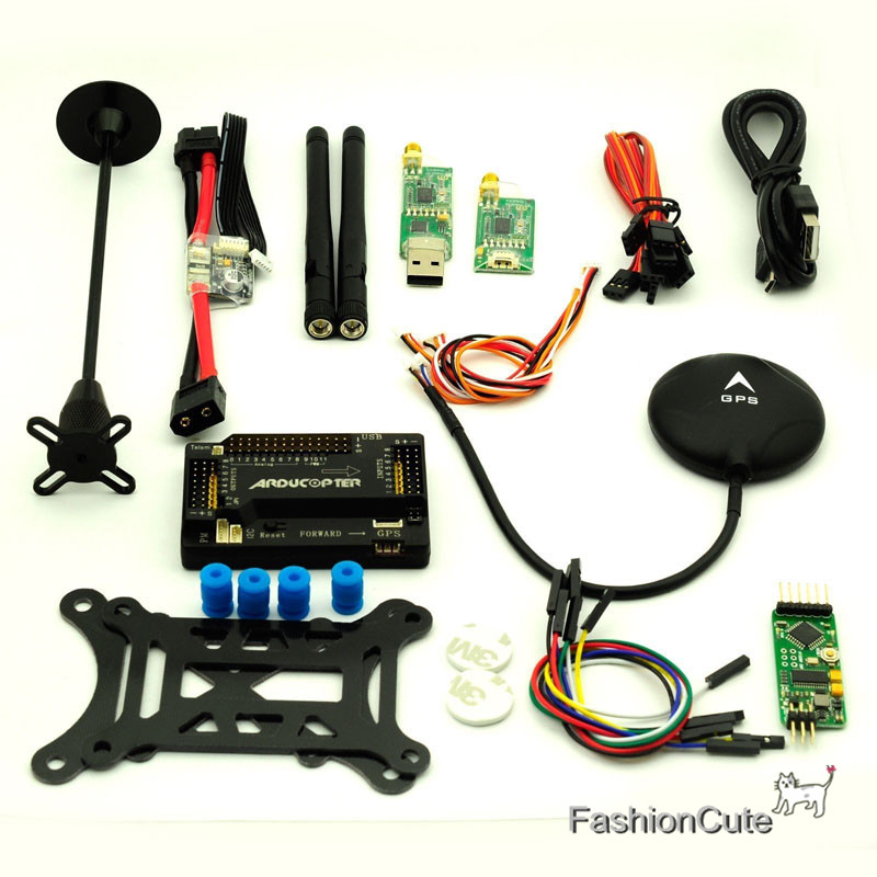APM2.8 Flight Controller & NEO-6M GPS 433Mhz Telemetry OSD Power Module Remote Controller Multicopter FPV Helicopter fpv s2 osd barometer version osd board read naza data phantom 2 iosd osd barometer with 8m gps module