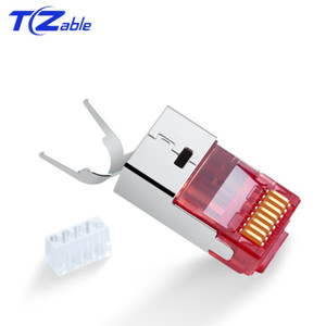 Image 5 - Cat6 Cat7 RJ45 Connector Ethernet Adapter 8P8C Network Extender Extension Cable Gold Plated Shield Modular RJ 45 Connector