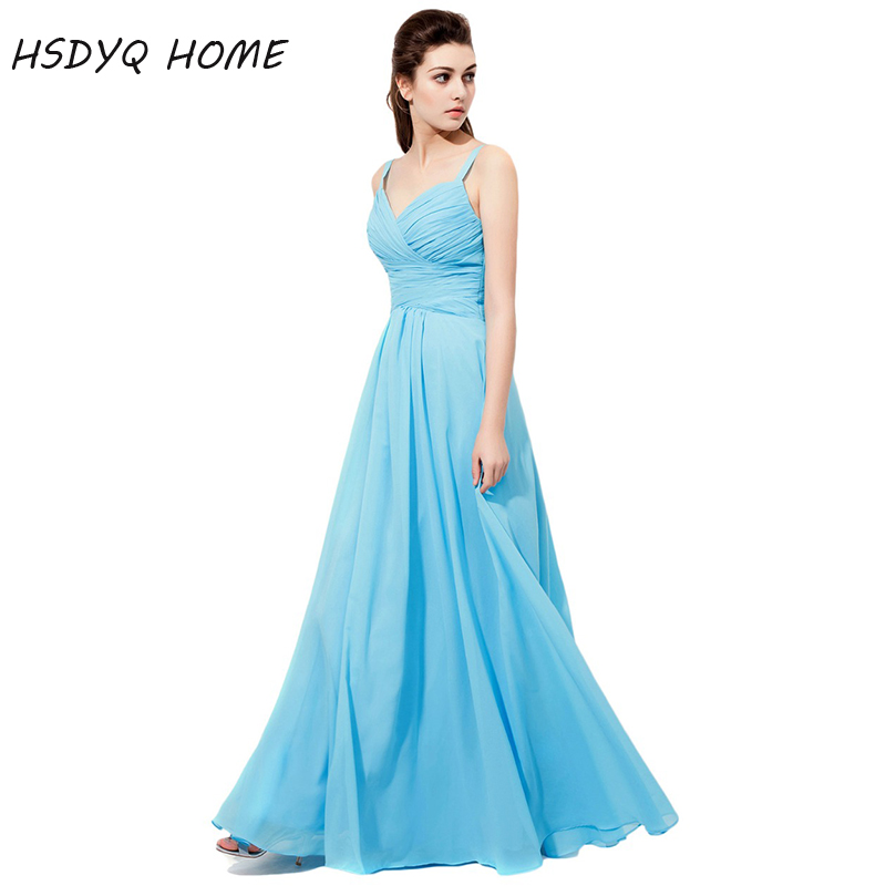 HSDYQ HOME Spaghetti Straps   Bridesmaid     Dresses   2018 Sleeveless Pleates Party Gowns Formal A-Line Wedding Prom   Dresses