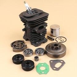 38MM NIKASIL Cylinder Piston Bearing Clutch Drum Kit For HUSQVARNA 142 141 137 136 Chainsaw Parts OEM 530 06 99 40