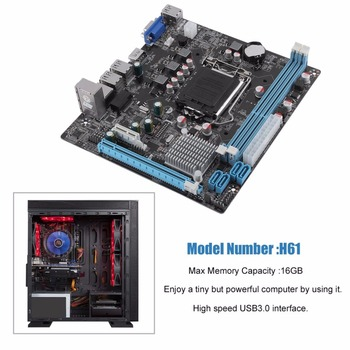 H61 Desktop Computer Mainboard Motherboard 1155 Pin CPU Interface Upgrade USB2.0 DDR3 1600/1333