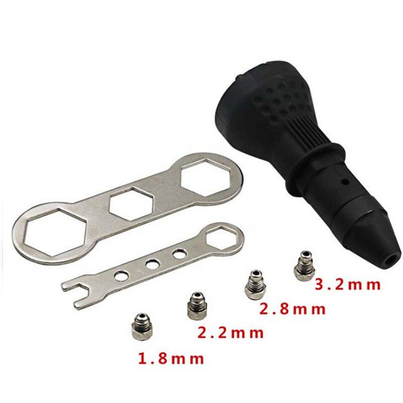 Adaptador de conversión de remache eléctrico remache tuercas remachadoras adaptador de taladro herramienta de tuerca multifunción remaches de pistola de uñas